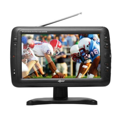 NEW Axess 9-Inch LCD TV w// ATSC Tuner Rechargeable Battery /& USB//SD Inputs