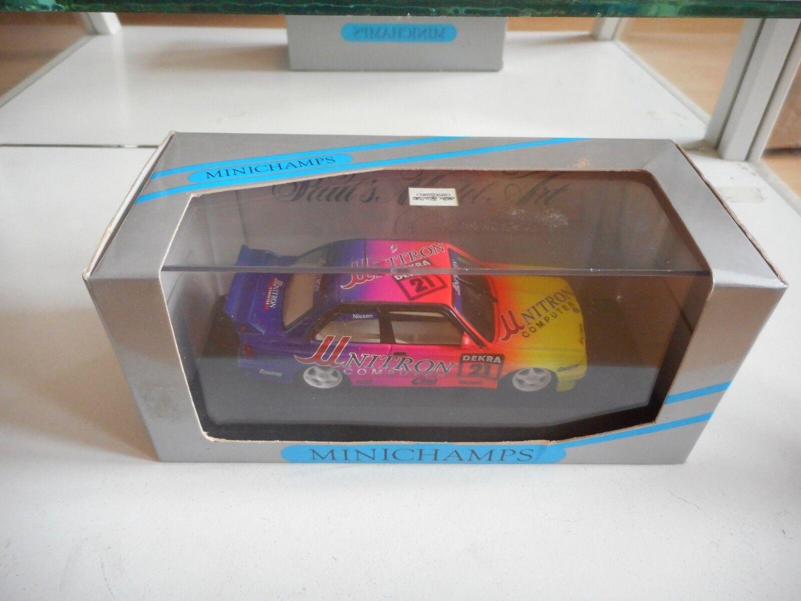 Minichamps BMW M3 DTM '92  21 Nissen In jaune violet on 1 43 in Box