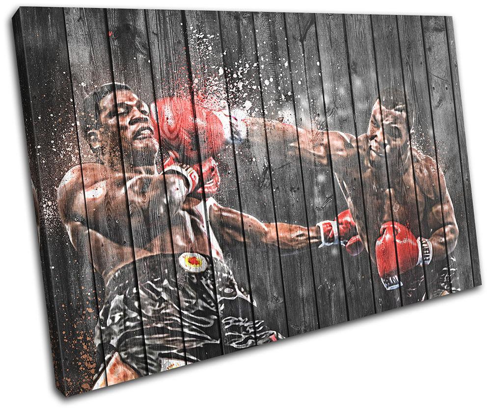 Boxing Mike Tyson  Sports SINGLE TOILE murale ART Photo Print