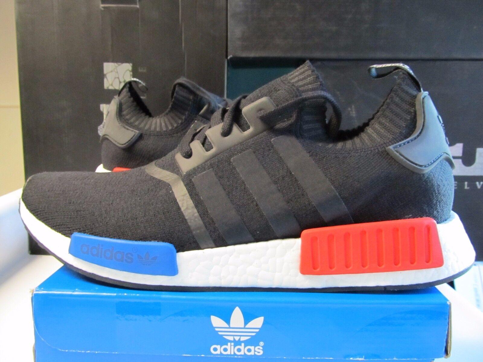cbd70d78d442a6 ... top quality adidas nmd r1 läufer pk primeknit kern rot schwarz rot kern  blauen og 13