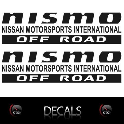2 MATTE Black NISMO OFF ROAD Decals Stickers Nissan Titan Frontier Pathfinder