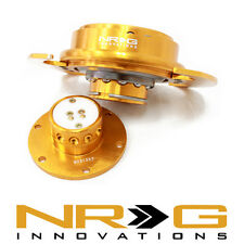 NRG 3.0 Gen Steering Wheel Quick Release Hub - Rose Gold / Gold Ring | SRK-650RG