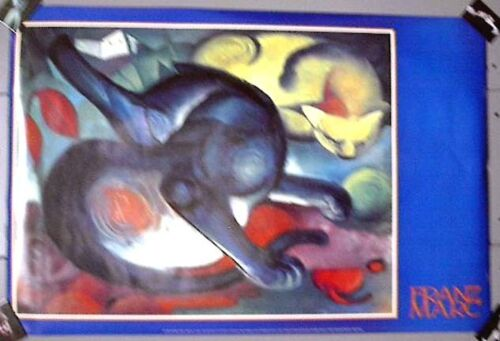 Vintage Rolled Poster FRANZ MARC Two Cats