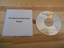 CD Indie The Head And The Heart - Shake (1 Song) Promo KOBALT LABEL