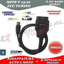MPPS V13 Tuning EDC16 EDC17 OBD RIMAPPATURA ECU AUTO V12 + SOFTWARE EGR DPF FAP