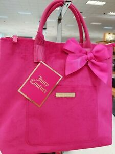 JUICY-COUTURE-pink-velvet-purse-handbag-tote-travel-bag-backpack-NEW