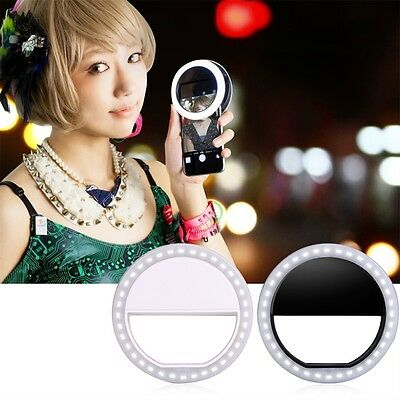 New Selfie LED Ring Fill Light Camera Photography For IPhone Android Phone DP