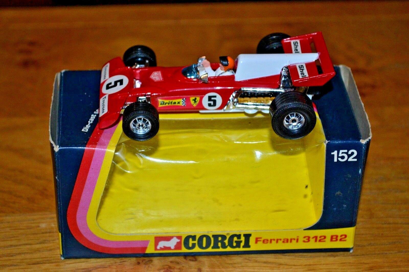 Vintage Corgi Ferrari 312 B2 Formula 1 Car; Mint Condition; Original Box