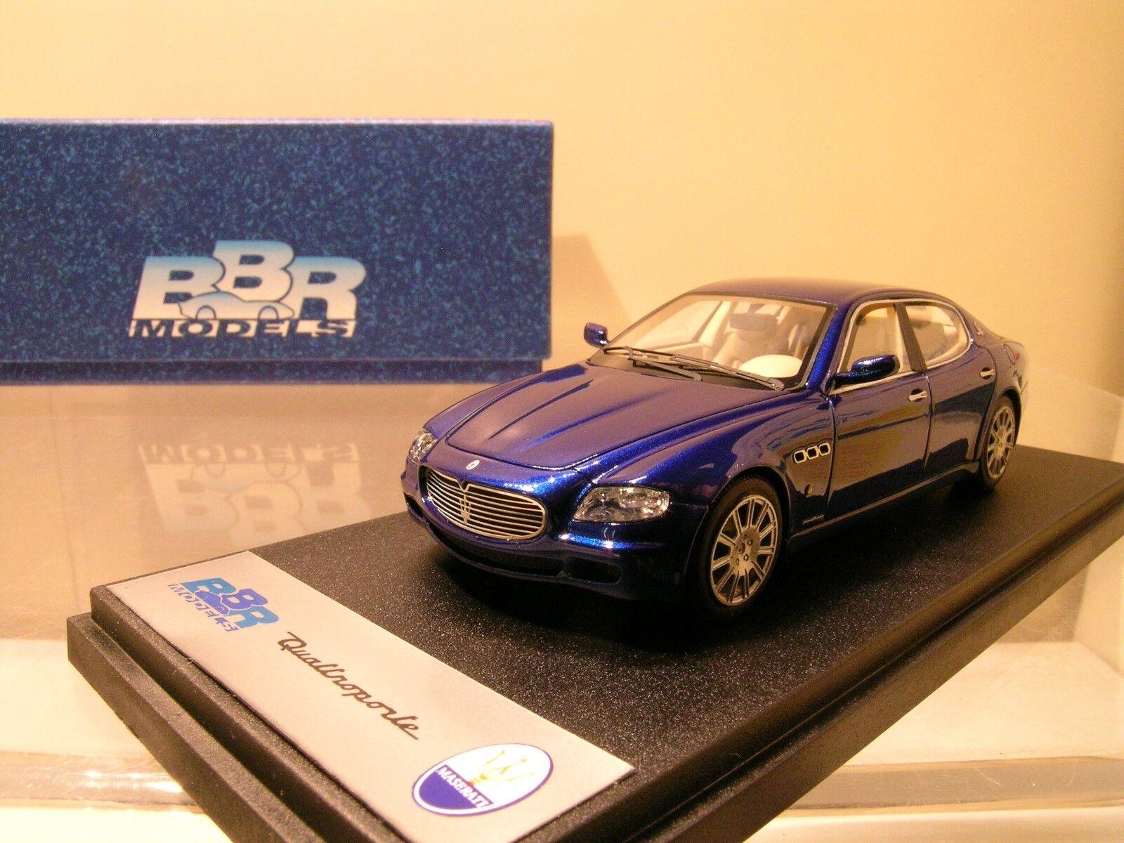 BBR MODELS NO.152A MASERATI QUATTROPORTE 2003 blueE METALLIC BOXED SCALE 1 43