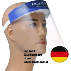anti-Viren Gesichtsschutz Labor Arzt Visier Tröpfchenschutz incl.1 blaue Maske
