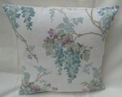 "Laura Ashley Designer Cushion Cover /""HYDRANGEA/"" DUCK EGG Fabric Various Sizes"