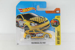 A-s-s-Hot-Wheels-NUOVO-2017-VW-VOLKSWAGEN-GOLF-mk7-ART-CARS-6-10-dtx92-16-365-OVP