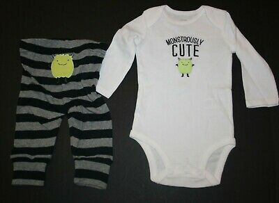 NWOT INFANT BOYS JUST ONE YOU BY CARTERS MONSTROUSLY CUTE SZ 3m 6m 9m