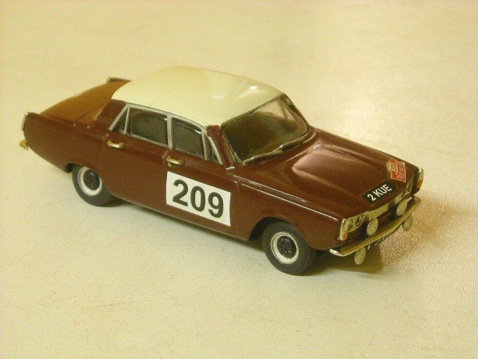 Rover P6 Rally Monte Carlo 1965 ANNE HALL 1 43rd Scale k&r replicas
