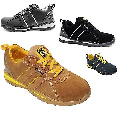 WOMENS LADIES LIGHT WEIGHT LEATHER SUEDE WORK STEEL TOE CAP SAFETY TRAINER BOOTS