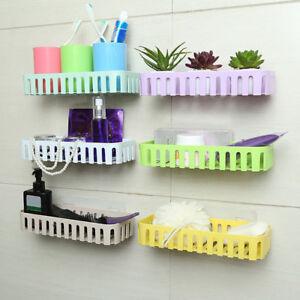 Image Is Loading Ep Bathroom Kitchen Adhesive Wall Mounted Storage Rack