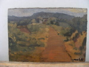 Details about MORLOTTI OIL ON THICK PAPER