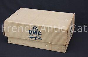 P573 Ancien carton emballage magasin mercerie DMC cloche N°7 48,5*30*20 cm