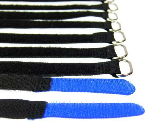 Eyelet 40 Velcro Cable Ties 160 x 16 MM Blue Cable Velcro Cable Velcro Velcro M