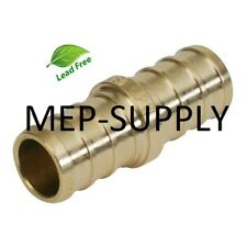 1 Pex Coupling Brass 1 Inch Crimp Coupler Fitting Lead Free Lot Of 100