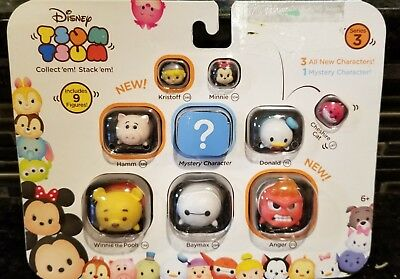 Marvel Tsum Tsum 9 PacK Figures Series 3 Style #2 COLLECTIBLES