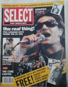 BONO-SELECT-MAGAZINE-MAY-1992-JESUS-amp-MARY-CHAIN-THE-CURE-CARTER-MUSIC-MAG-EX