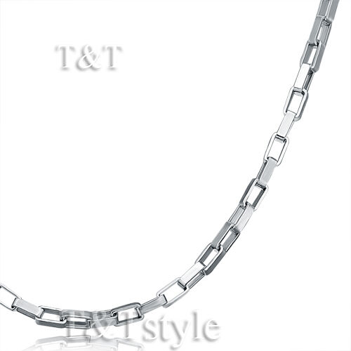 UNIQUE T/&T 2mm Stainless Steel Box Chain Silver C30