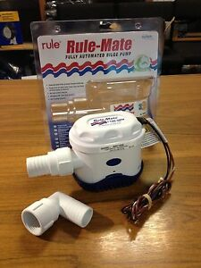 NEW-RULEMATE-1100-GPH-Automatic-Water-Bilge-Pump-Boat-Rule-Mate-Pumping