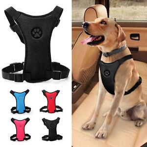 Pet Seat Belt >> Details About Soft Mesh Paw Print Dog Car Harness Pet Safety Vehicle Seat Belt S M L 5 Colors