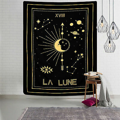 Zodiac Moon Tapestry Psychedelic Wall Hanging Tarot Tapestries Home Wall Decor