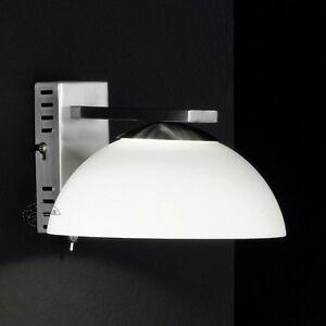 Elegante LED Wandleuchte mit Schalter , Wandlampe LED Glas Weiß ...