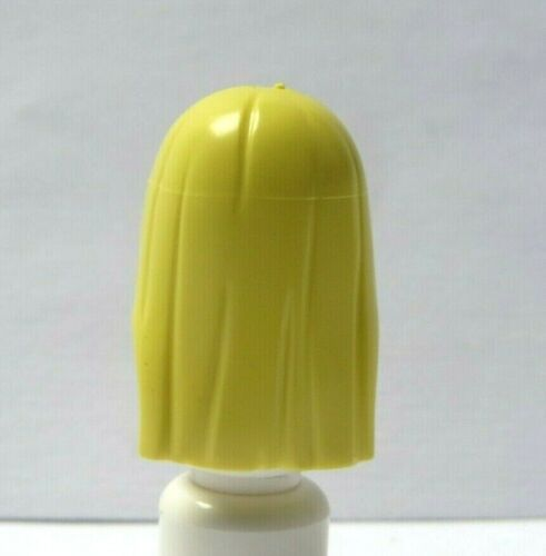 Lego 1 Hair Wig For Female Girl Minifigure Figure Long Straight Yellow Blonde