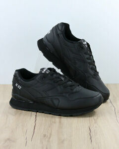 Diadora-Chaussures-sportif-Shoes-Sneakers-Sportswear-Noir-N-92-Leather