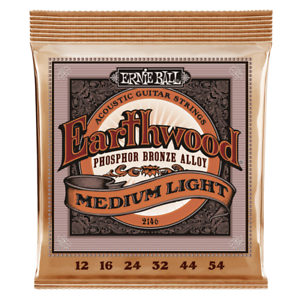 2019 DernièRe Conception Ernie Ball Earthwood Medium Light Phosphor Bronze Acoustic Guitare Strings - 12-5-afficher Le Titre D'origine Les Commandes Sont Les Bienvenues.