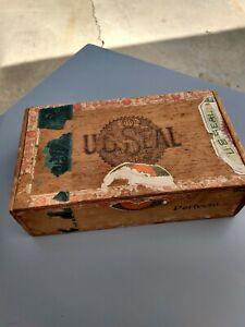 RARE-1901-vintage-US-seal-cigar-co-cigar-box