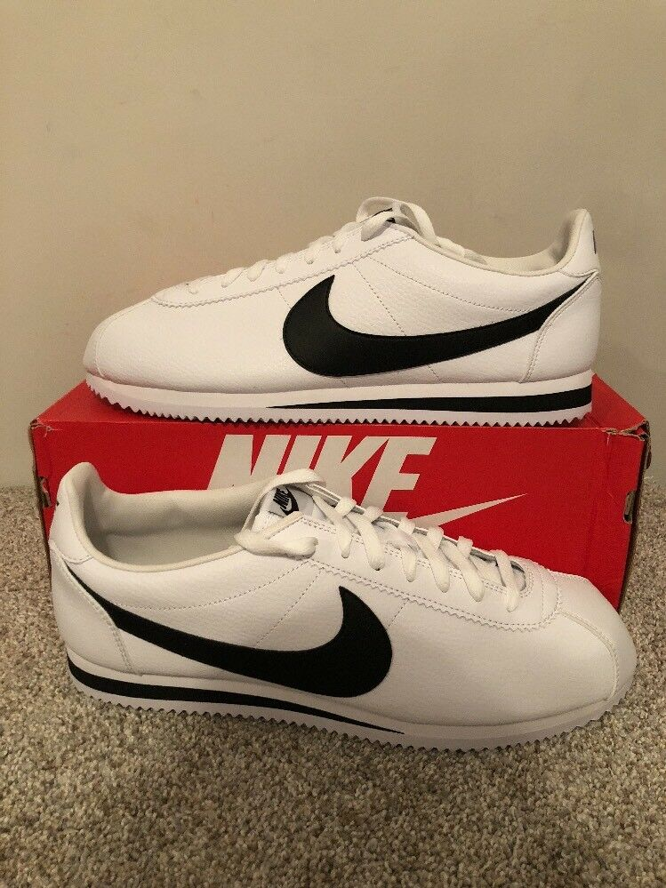 Nike Classic Cortez Leather Black White Forest Gump 749571-100