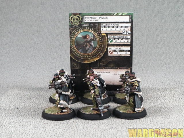 30mm Hordes WDS painted Circle Orbgolds Reeves of Orbgolds Unit l3