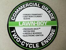 Reproduction lawn boy COMMERCIAL engine series replacement recoil mower decal.