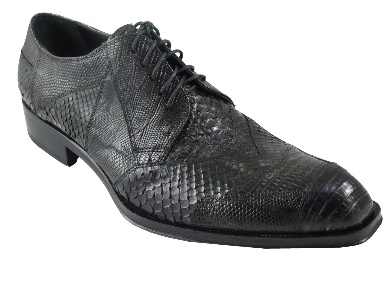 JO GHOST 1732M  Luxurious uomo scarpe EXOTIC SKIN LACE-UP OXFORDS