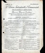 """PARIS (X°) TRANSPORTS ASSURANCES """"UNION INDUSTRIELLE & COMMERCIALE"""" Tract 1900"""