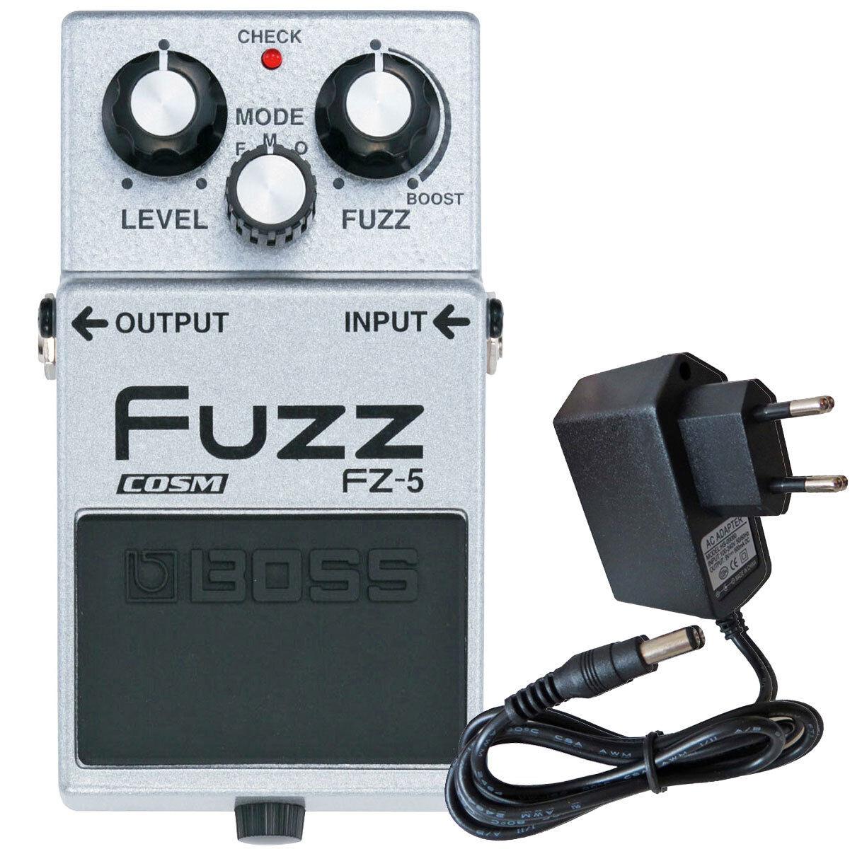 Boss FZ-5 Fuzz-Pedal Effektgerät + Keepdrum Netzteil 9V