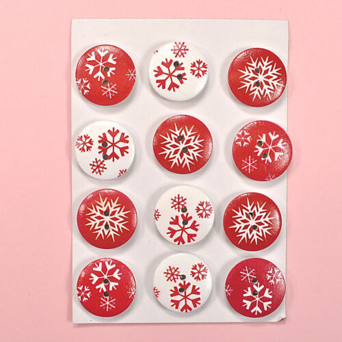 Dress it Up Buuttons Galore 2041 HOLIDAY BUTTONS Wooden Christmas