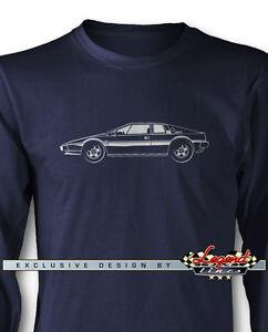 Lotus Esprit S1 Coupe James Bond Long Sleeves T-Shirt - Multiple Colors & Sizes