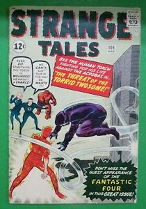 Strange-Tales-106-1st-App-Acrobat-Kirby-Lee-Marvel-Atlas-Comics-1963-GD