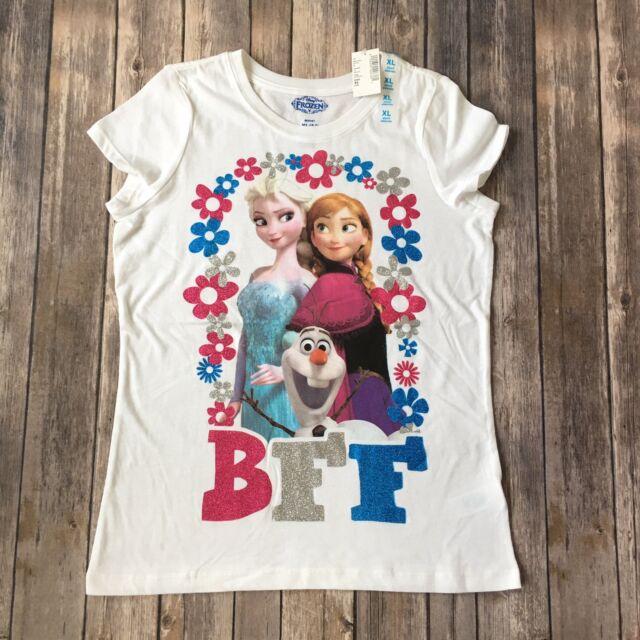 350fdb9de Disney Frozen Shirt Anna Elsa Olaf Girl XL 14 BFF Cotton Blend Children  Place T
