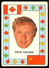 1972 73 OPC TEAM CANADA WAYNE CASHMAN VS RUSSIA HOCKEY SERIES BOSTON BRUINS