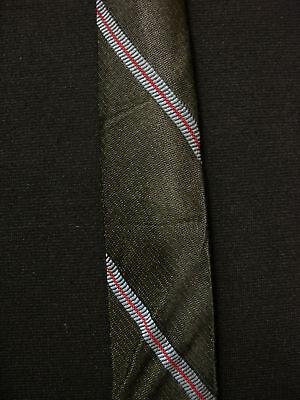 Vintage 594ms-597ms Seide Olive / Schwarz, Blau & Rot