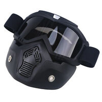 Windproof Atv Motocross Helmets Eye-protector Goggles Shield Face Removable Mask
