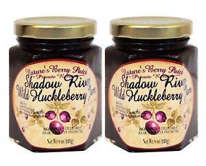 Shadow River Wild Huckleberry Gourmet Jam 8 oz Jar (2-Pack) Fruit Preserves