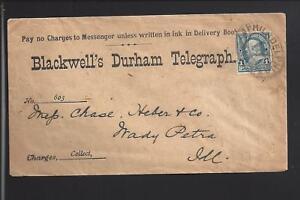 PHILADELPHIA,PENNSYLVANIA,1890'S ADVT COVER,BLACKWELL'S DURHAM TELEGRAPH.